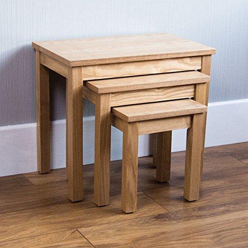 Vida Designs Oak Occasional Oakridge Nest Of Tables