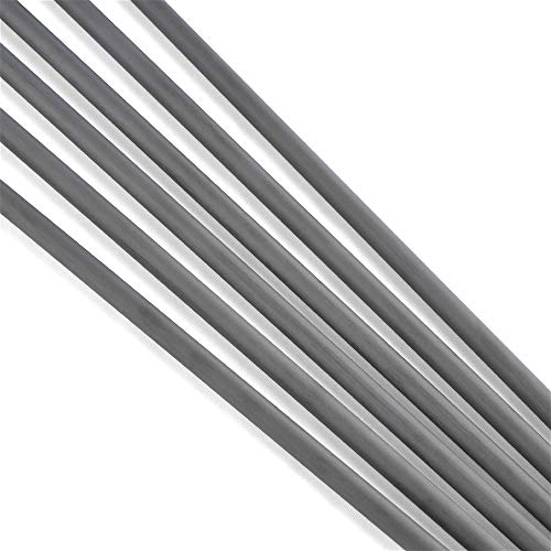 SHARROW 12pcs Archery Carbon Arrow Shaft 30 inch Spine 300-900 Pure Carbon Fiber Shafts ID 6.2mm 4.2mm for Compound Recurve Bow Arrows Home Made Arrows (Spine 300, ID 6.2mm)
