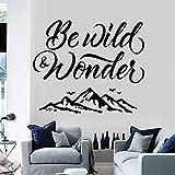 wZUN Stickers muraux Sauvages Lettrage Montagne liberté Aventure Voyage Vinyle Autocollant Salon décoration de la Maison 50X60 cm