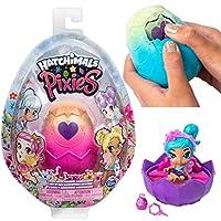 3 ACCESSORI MISTERIOSI e LETTINO FATATO: ogni fata ha 3 accessori misteriosi che puoi riporre nella parte inferiore dell'uovo. Schiudi il tuo uovo per scoprirli all'interno, troverai anche un lettino fatato. ALI GLITTERATE CHE SI MUOVONO: le fate son...
