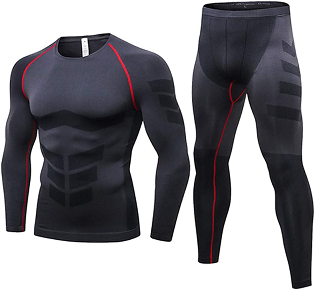 Men Winter Thermo Underwear,Thermal Long Johns Rashgard Set,Compression Underwear,Quick Drying Thermo Base Layer