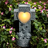 SUNNYPARK Cat Pet Memorial Stone Gifts - Solar Decor Garden Stones Light Pet Lost Sympathy Gift