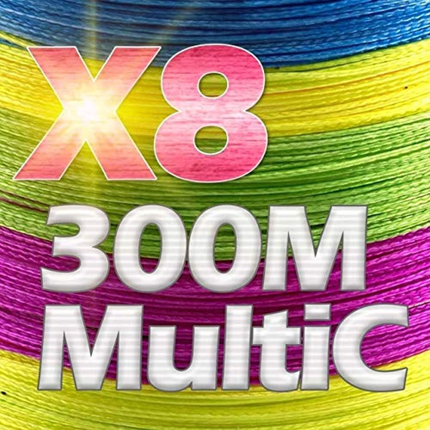 CUSHY JOSBY 300M 500M 1000M 4 Strands 8 Strands Multico PE Braided Wire Japanese Multifilament Super Strong Fishing Line 2018 New  X8300MMultic, 5.0