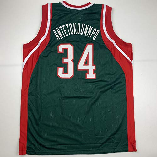 Unsigned Giannis Antetokounmpo Milwaukee Rookie Retro Green Custom Stitched Basketball Jersey Size Men's XL New No Brands/Logos