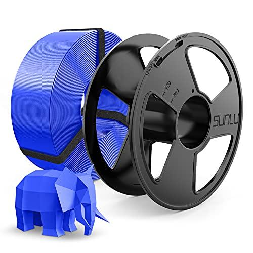 PLA Filament 1.75mm, SUNLU PLA 3D Drucker Filament, Wieder Verwendbar Spool, MasterSpool, Maßgenauigkeit +- 0.02mm, 1kg Spool(2.2lbs), 1.75 PLA Blau