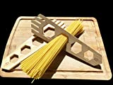 Natural Bamboo Wooden Spaghetti Measurer Pasta Measure Cook Kitchen Utensil Tools 4 Hole Measure Portion Control Made by WOODBEAT (Beech Wood)