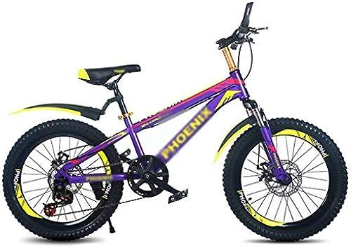 ETZXC Kinder Mountainbike Stufenlos regelbare Geschwindigkeit fürrad Jungen und mädchen Reisen fürrad Kinder Fitnessger