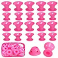YOHOTA 40PCS Hair Curlers Rollers Hair Care Roller Silicone No Clip Hair Style Rollers Soft Magic DIY Curling Hairstyle Tools Hair Accessories.