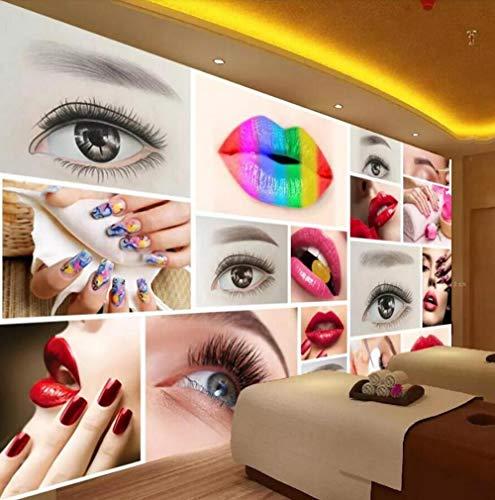 3D-behang, zijdevlies, vliesbehang, personaliseerbare muren, fotografie, mode, schoonheidssalons, semi-permanent, lippenstift, achtergrondbehang 250*175