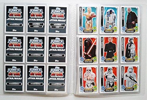 Topps Star Wars–despertar de la Fuerza–Tarjetas de todas las 160Base como Juego en el álbum–Edición Alemana