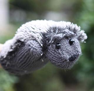 Women Winter Cartoon Glove Hedgehog Wrist Knit Mittens Warm Thick Gloves Female Cute All Fingers Heated Villus Gloves Women's Gloves