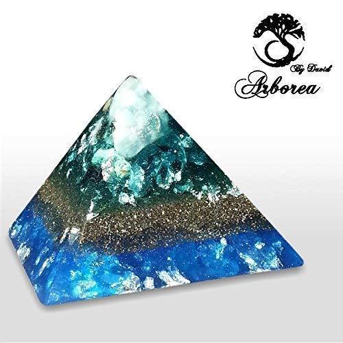 Orgonite Pyramid Large Reiki charged ArboreaCrystals Design
