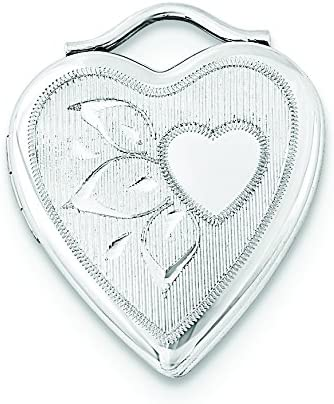 A surprise price is realized Sterling San Jose Mall Silver 20mm Textured Polished Locket Heart