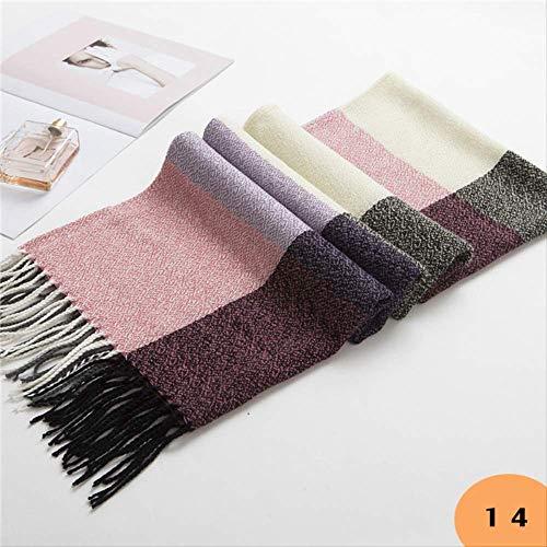 Hot herfst winter vrouwelijke wol sjaal vrouwen kasjmier sjaals brede roosters lange sjaal Wrap deken warm