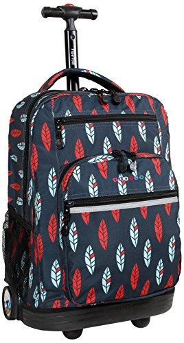 J World New York Sundance Laptop Rolling Backpack, Indi