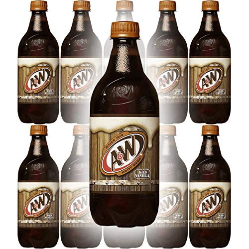 A&W Root Beer, 20 Fl Oz Bottle, (Pack of 10, Total of 200 Fl Oz)