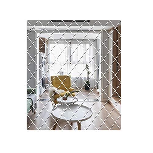 Hankyky DIY Selbstklebende Spiegel Wandaufkleber Abnehmbare Acrylspiegel Sheets Wandtattoos Dekor Für Zuhause Wohnzimmer Schlafzimmer Hintergrund Dekoration