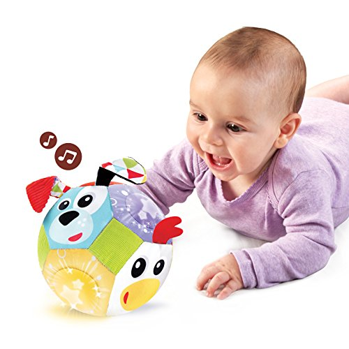 Yookidoo - Balle Bébé Musique et Lumière - Jouet Bebe - Jeu Eveil Enfant - Jouet Bebe Educatif - Jeu Musical et Mobile - Motricité, Eveil, Coordination - Cadeau bébé dès 3 Mois