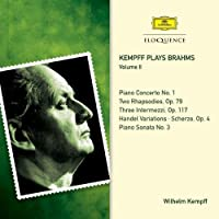 Kempff plays Brahms Vol.II by WILHELM KEMPFF (2014-03-25)