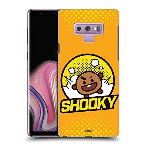 Head Case Designs Offizielle BT21 Line Friends SHOOKY Comics Pops Abzeichen Harte Rueckseiten Handyhulle Hulle Huelle kompatibel mit Samsung Galaxy Note9 Note 9
