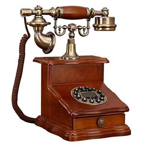 Gib niemals auf Europäisches Antik-Telefon, Massivholz-Retro-Telefon, neues High-End-Festnetz-Telefon für kreative Privathaushalte