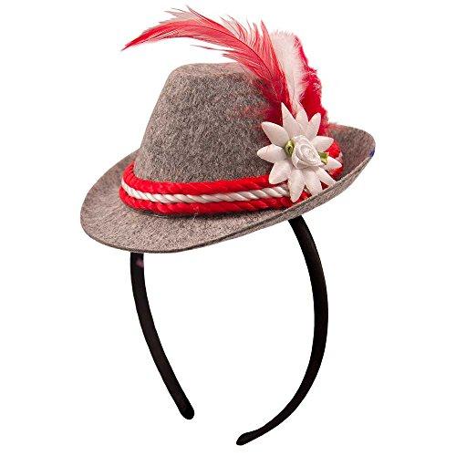 Folat Mini Chapeau Bavarois avec Serre-tête 10 cm