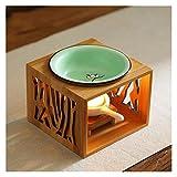 100ml Tealight Candela Portacandele Aroma Scaldacandele ARRO Bruciatore di olio essenziale Diffusore in ceramica Portachiavi da tè in ceramica Meditate Spa Decorazione della Camera da Letto di Meditat