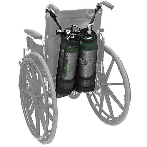 HHORD Sauerstofftank-Tasche, Doppelte Sauerstoffflaschen-Tasche Für Rollstuhlfahrer Sauerstofftankhalter Mit Schönem Netzfach Für Medizin, Haushalt Und Krankenhaus