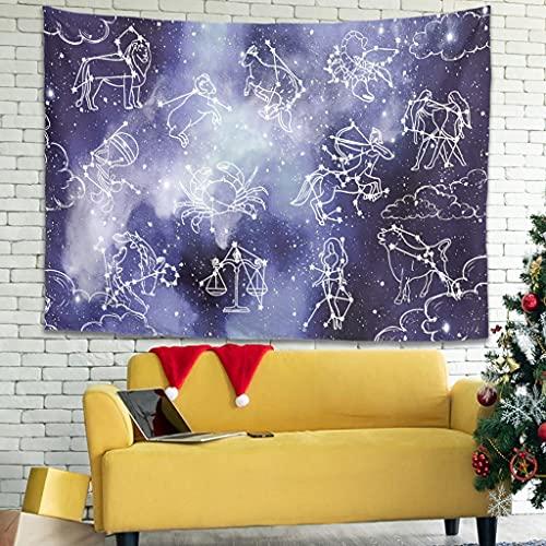 OwlOwlfan Star Constellation Tapersty - Manta de pared ligera y personalizada, mantel de tela para decoración del hogar, color blanco 40 x 59 pulgadas