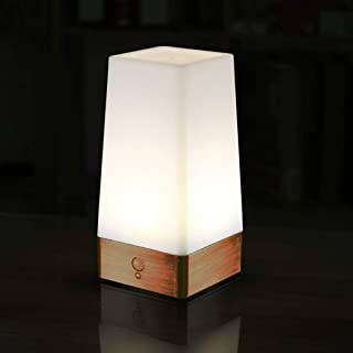 WRalwaysLX 3 Modes Battery Powered Small Table Lamp,Bedside Lamp Wireless PIR Motion Sensor LED Night Light,USE 3x1.5VAAA Battery,Sensitive Portable Moving Lamp for Kids Room,Hallway,Bedroom