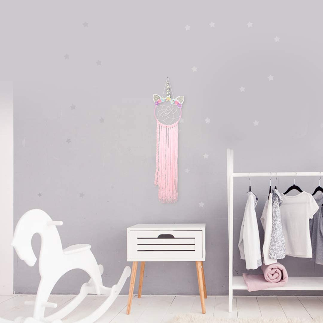Unicorn Hair Accessories Storage Dream Catcher Clip Hanger for Kids Party Decorations Hair Bow Holder Organizer for Girls Bedroom