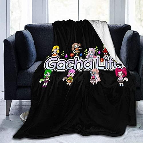 Gacha Life - Manta cálida con impresión 3D, para todo el año, bonita y cómoda, ropa de cama infantil (Life1,135 x 150 cm)