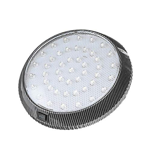 LED Car Ceiling Light, Round Ceiling Lumen Warm White Mounted Dome Roof Interior Light Lamp for Car Truck