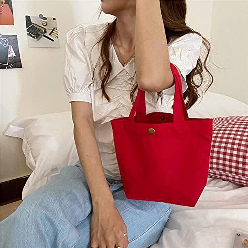 Bolsos de picnic de lona para mujer, bolsos de tela de algodón, bolsos de hombro, bolsos de maquillaje para mujer, Mini Kit de verano informal-2