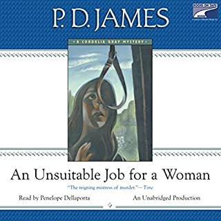 An Unsuitable Job for a Woman audiobook cover art