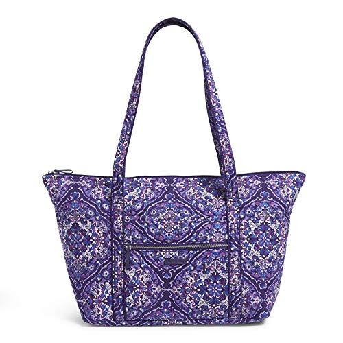 Vera Bradley Women's Signature Cotton Miller Tote Travel Bag, Regal Rosette