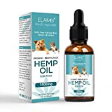 witoptop Full Spectrum Hemp Essential Oil for Dogs Natural Herbs of Pet Care Oil Anxiety Relief Pain Joint Hip Strengthens Immunity