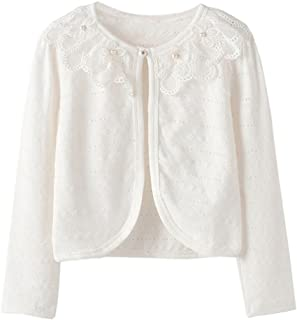 9808644f51 ZHUANNIAN Girls Knit Cardigan Shrug Ruffle Cropped Sweater Dressy Bolero  Jacket