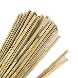 Pllieay estacas de bambú gruesas naturales estacas de jardín bastones de bambú para soporte de plantas,40cm