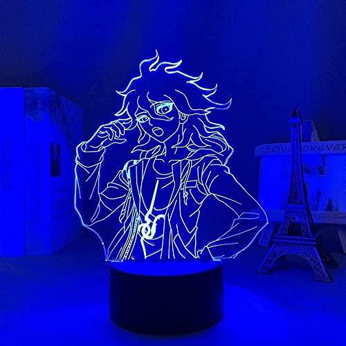 Lámpara de ilusión LED 3D personaje de dibujos animados trineoUSB Lámpara de mesa multicolor para dormir Regalo innovador Decoración del hogar-16 color remote control