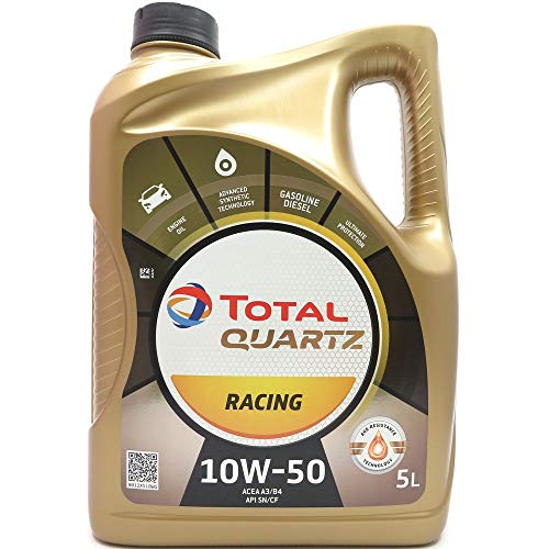 Total Quartz Racing 10 W-50 Motoröl, 5 Liter