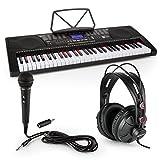Schubert Etude 225 USB - Teclado de aprendizaje con auriculares de estudio y micrófono, Piano 61 teclas luminosas 5 registros, 255 ritmos, Función grabación inteligente, función aprendizaje