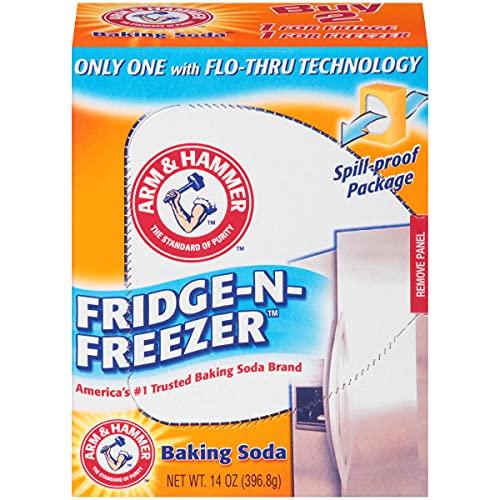 Arm & Hammer baking Soda, Fridge-N-Freezer Pack, Odor absorber, 14oz Pack, (case Of 12)