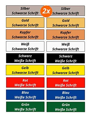2er Set Klingelschild Türschild Briefkastenschild Namensschild Gravur Selbstklebend 9 Farben