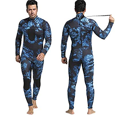 Nataly Osmann Mens 3mm /1.5mm Wetsuits Camo Neoprene Full Body Diving Suits One Piece Spearfishing Suit (camo03-1.5mm, S)