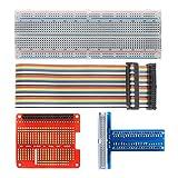 Raspberry Pi GPIO Breakout Kit, 830 punti senza saldatura, scheda di espansione GPIO T + c...