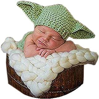 Newborn Baby Photography Prop Crochet Star Wars Yoda Hat