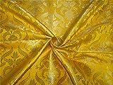 TheFabricFactory Brokat Stoff Mango X Metallic Gold