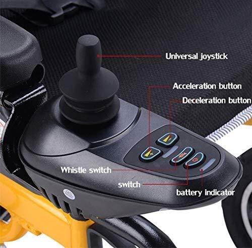 51cMjlwGdAL - Sillas de ruedas HYL-silla de ruedas eléctrica Luz silla de ruedas plegable portátil de energía de parasitismo - 24 Inchs Silla de ruedas eléctrica for los ancianos, discapacitados y hemiplejía pacien