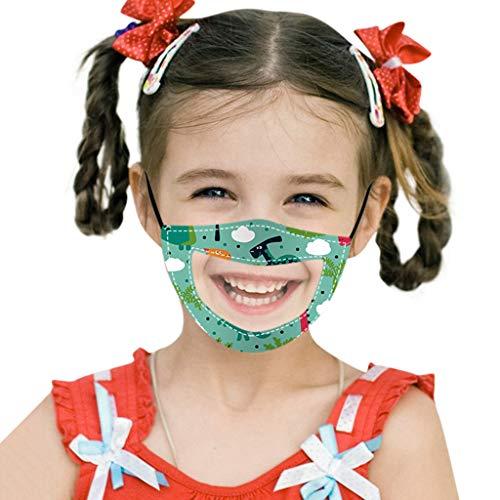 PPangUDing 1/3PC Mundschutz Kinder Waschbar Wiederverwendbare Transparent mit Motiv Atmungsaktive Staubdicht Mund und Nasenschutz Halstuch Bandana Multifunktionstuch für Junge Mädchen